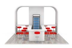 Barra, café, bar, conceito do interior do fast food rendição 3d ilustração royalty free