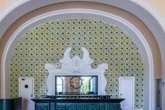 Barra central vieja en el hotel anterior del casino del palacio de Quitandinha - Petropolis, Rio de Janeiro, el Brasil imagenes de archivo
