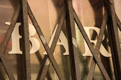Barra cerrada imagen de archivo libre de regalías