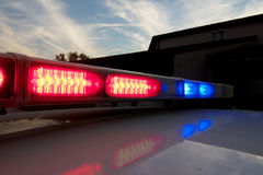 Barra clara de carro de polícia Imagens de Stock