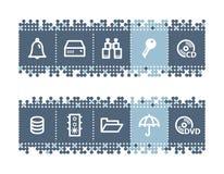barra con los iconos del file-server Fotos de archivo
