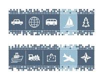 barra con los iconos del recorrido Foto de archivo