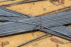 Barra d'acciaio della costruzione immagine stock