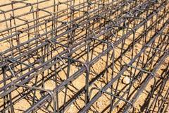 Barra d'acciaio di rinforzo Immagini Stock Libere da Diritti