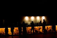 Barra da noite Fotografia de Stock Royalty Free