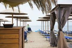 Barra da praia de Skala Marion Beba Foto de Stock Royalty Free