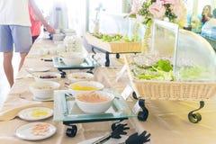 Barra da salada com vegetais Imagem de Stock