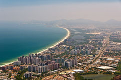Barra da Tijuca Aerial View Royalty Free Stock Photography
