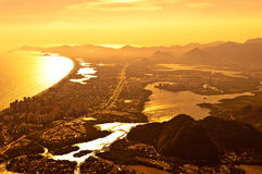 Barra da Tijuca Aerial View Royalty Free Stock Image