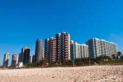 Barra da Tijuca Beach i Rio de Janeiro Royaltyfri Foto