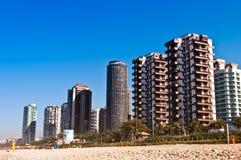 Barra da Tijuca Beach i Rio de Janeiro Royaltyfri Bild