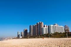 Barra da Tijuca Beach i Rio de Janeiro Arkivfoto