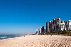 Barra da Tijuca Beach i Rio de Janeiro Arkivbilder