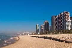 Barra da Tijuca Beach i Rio de Janeiro Royaltyfri Fotografi
