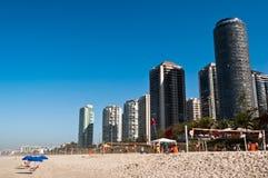 Barra da Tijuca Beach in Rio de Janeiro Royalty Free Stock Image