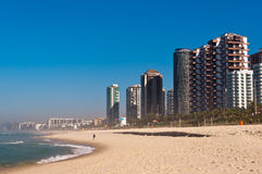Barra da Tijuca Beach in Rio de Janeiro Royalty Free Stock Images