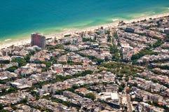 Barra da Tijuca, Rio de Janeiro, Brazil. Aerial view of resort area of Barra da Tijuca stock photography