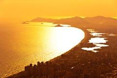 Barra da Tijuca widok z lotu ptaka zdjęcie stock