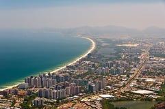 Barra da Tijuca widok z lotu ptaka fotografia royalty free