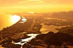 Barra da Tijuca widok z lotu ptaka obraz royalty free