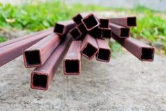 Barra de acero de la barra para la construcción de edificios Fotografía de archivo