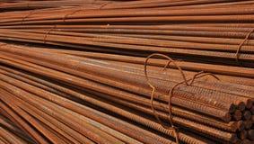 Barra de acero deformida Fotografía de archivo libre de regalías