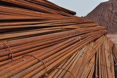 Barra de acero deformida Foto de archivo libre de regalías