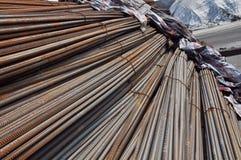 Barra de acero deformida Imágenes de archivo libres de regalías