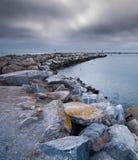 Barra de areia rochosa Foto de Stock
