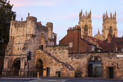 Barra de Bootham e iglesia de monasterio de York Foto de archivo