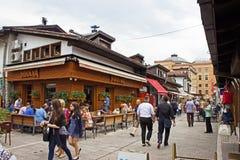 Barra de café da rua de Sarajevo fotos de stock