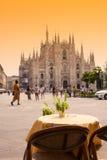 Barra de café de Milán Fotos de archivo
