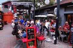 Barra de café en Tianzifang, Shangai China Imágenes de archivo libres de regalías