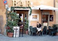 Barra de café italiana Fotografía de archivo