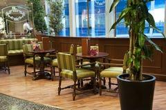 Barra de café interior Fotografía de archivo