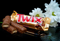 Barra de caramelo de Twix Imagen de archivo