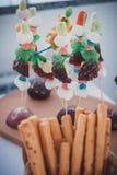 Barra de caramelo en ceremonia de boda fotografía de archivo libre de regalías