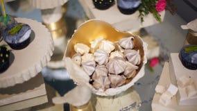 Barra de caramelo linda con los diversos caramelos y cakes-4 metrajes