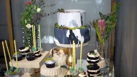 Barra de caramelo linda con los diversos caramelos y cakes-6 metrajes