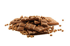 Barra de chocolate Imagenes de archivo