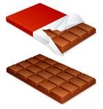 Barra de chocolate. Imagen de archivo libre de regalías