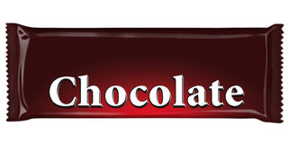 Barra de chocolate Ilustração Stock