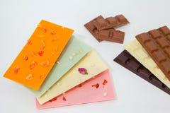 Barra de chocolate Fotos de archivo libres de regalías