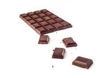 Barra de chocolate Imagen de archivo libre de regalías