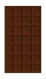 Barra de chocolate aislada Imagen de archivo