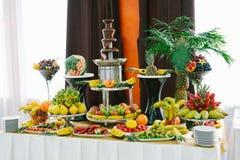 Barra de chocolate com fruto Foto de Stock Royalty Free