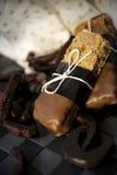 Barra de chocolate da aveia Imagem de Stock Royalty Free