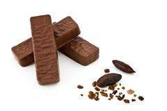 Barra de chocolate de la dieta Imagen de archivo