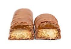 Barra de chocolate del caramelo Foto de archivo libre de regalías