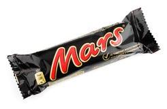 Barra de chocolate del caramelo de Marte fotografía de archivo libre de regalías